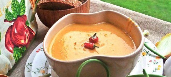 классический тыквенный суп пюре в мультиварке рецепт