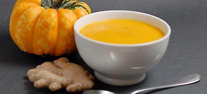 классический тыквенный суп пюре с имбирем