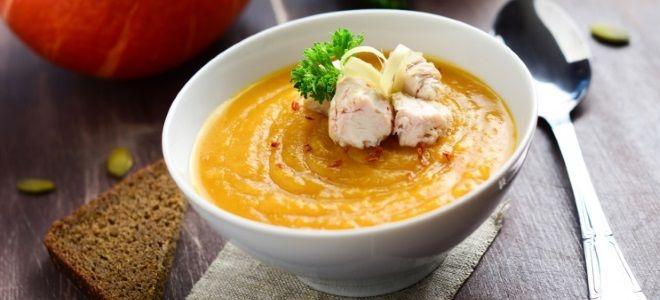 суп из тыквы со сливками и курицей