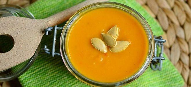 суп из запеченной тыквы со сливками