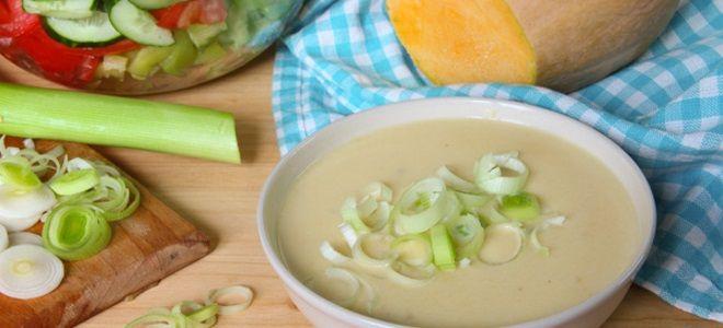 тыквенный крем суп со сливками и картофелем