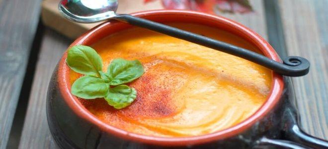 овощной суп пюре со сливками и тыквой