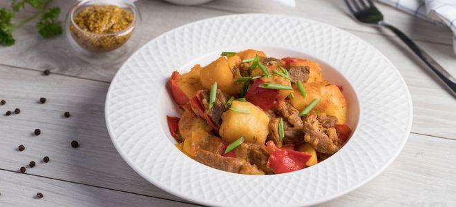 гуляш из говядины с картошкой рецепт