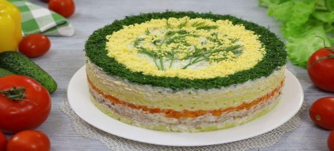 салат мимоза с сайрой и морковью