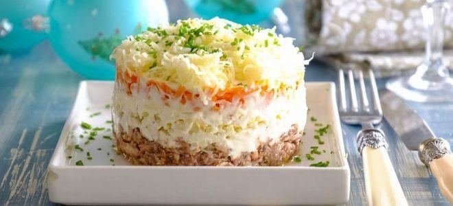 классический салат мимоза с консервой сайрой рецепт