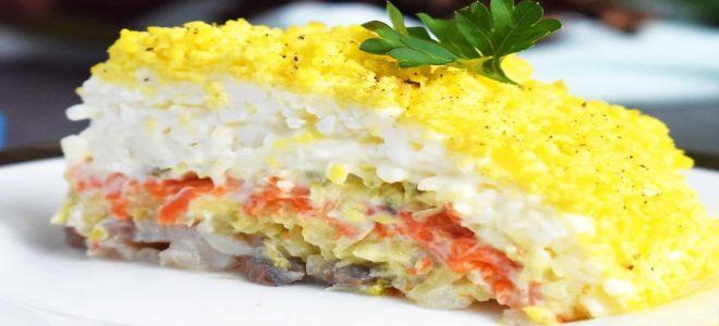 мимоза с сайрой и картошкой классический рецепт