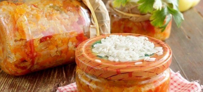 лечо с рисом н  зиму рецепт