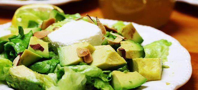 салат с айсбергом и авокадо