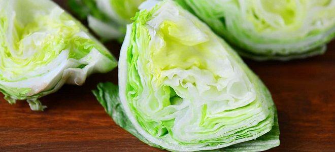 как хранить салат айсберг
