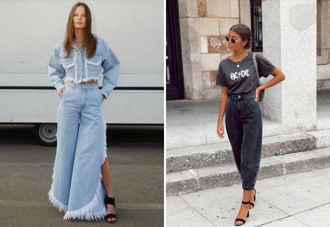 модные женские джинсы с высокой талией