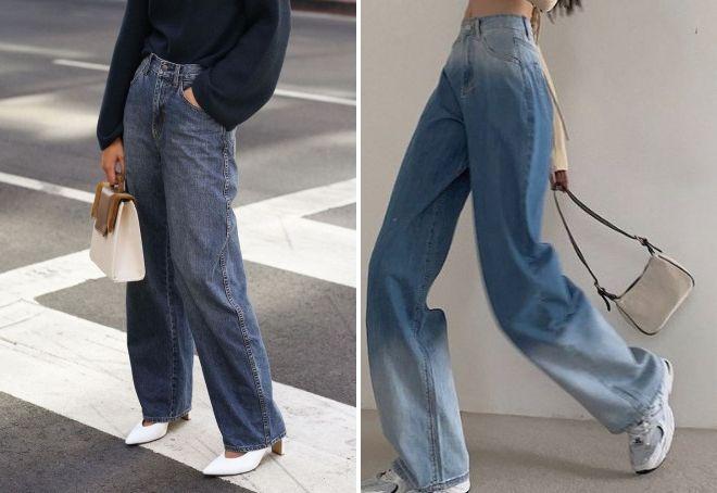 модные джинсы оверсайз