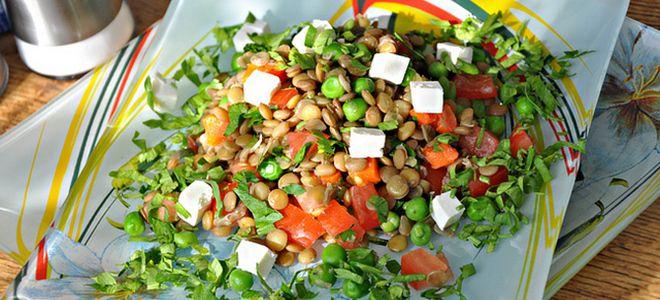 салат из чечевицы просто и вкусно рецепт