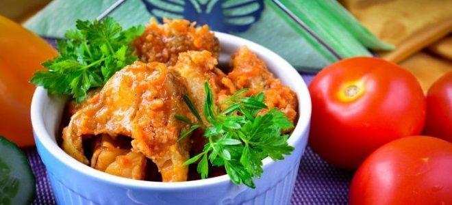 минтай в томатном соусе в духовке