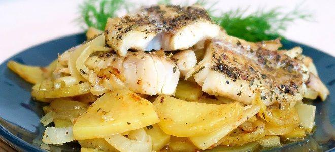 филе минтая в духовке с картошкой