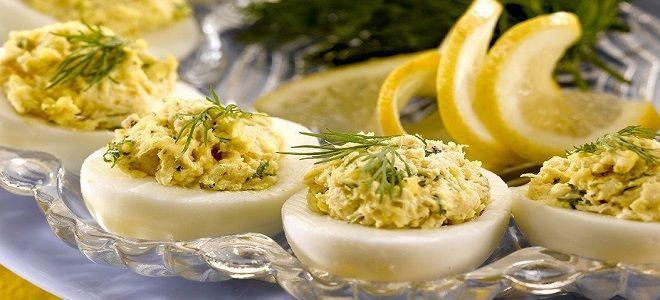 яйца фаршированные мясом криля рецепт