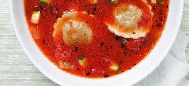 вкусный суп с пельменями