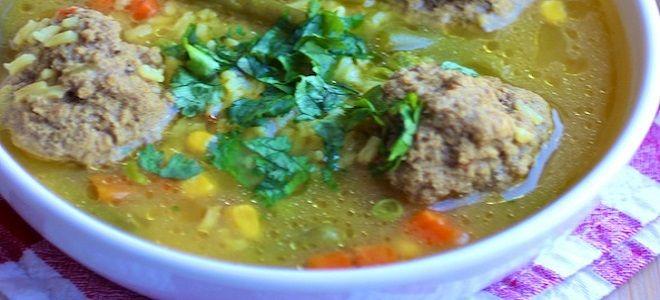 самый вкусный суп с фрикадельками и рисом