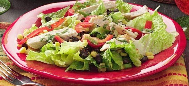 салат с урицей и красной фасолью