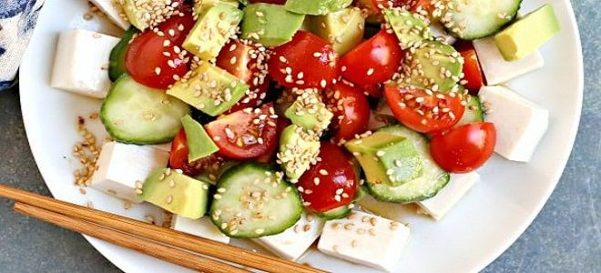 салат с тофу рецепт