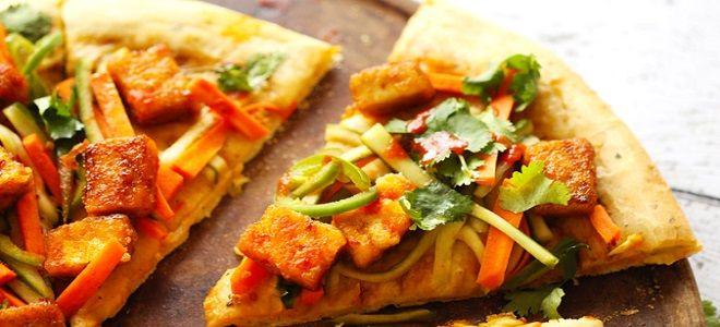 пицца с тофу