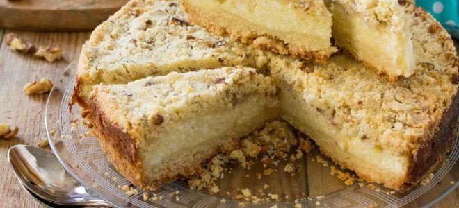 пирог с творогом из песочного теста