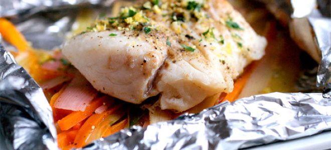 рыба в фольге в духовке рецепт