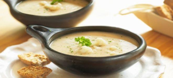 суп пюре из шампиньонов и цветной капусты