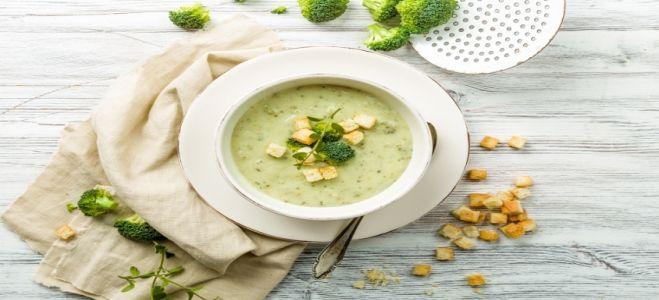 суп пюре из шампиньонов и брокколи