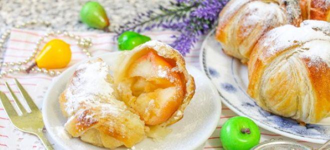 яблоки в тесте запеченные в духовке рецепт