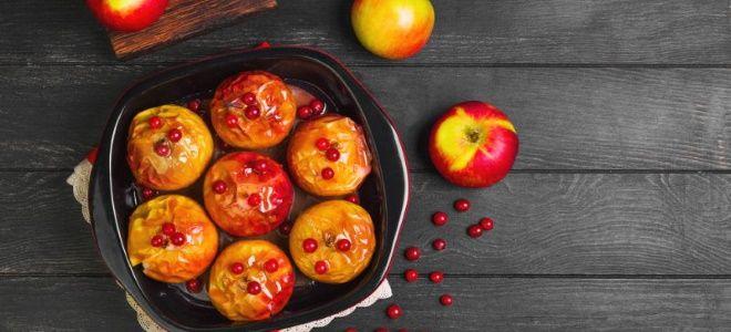 запеченные яблоки в духовке целиком в кожуре