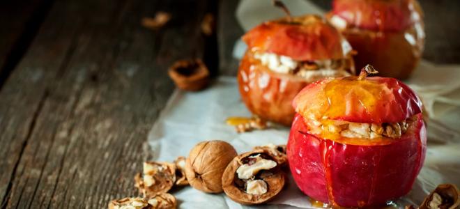 яблоки запеченные с орехами