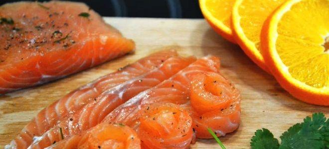 слабосоленая семга в апельсинах