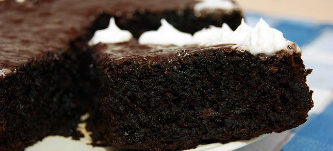 шоколадно ореховый бисквит