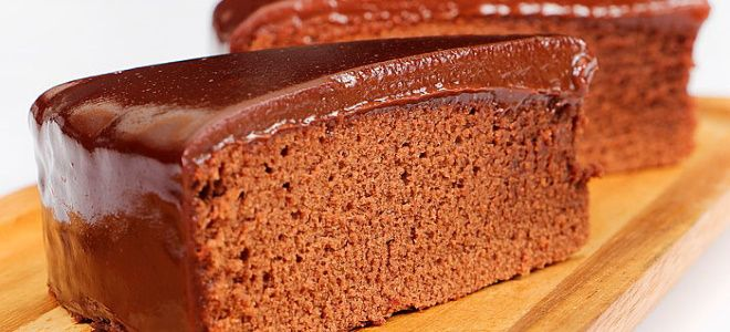 шоколадно медовый бисквит