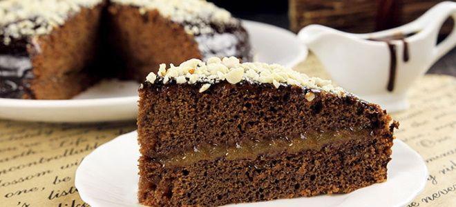 постный шоколадный бисквит