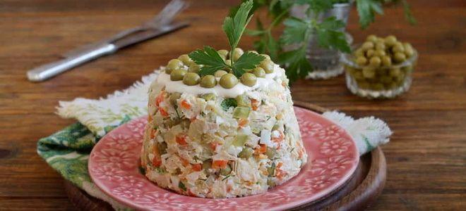 как приготовить вкусный салат оливье с курицей