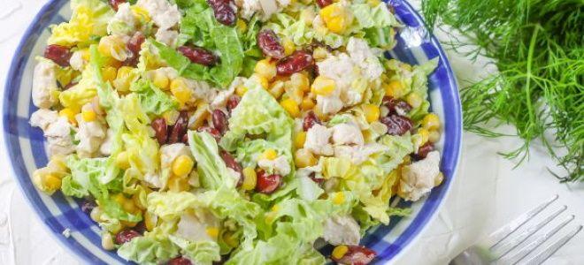 вкусный салат с курицей и пекинской капустой