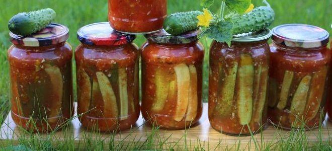 огурцы в томате с кетчупом чили