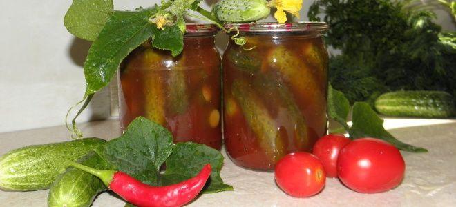 огурцы и помидоры в кетчупе чили