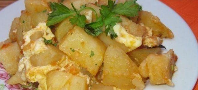 картошка по деревенски в духовке с яйцами