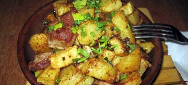 картошка по деревенски в духовке с свининой