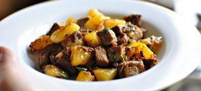 картошка по деревенски в духовке с говядиной