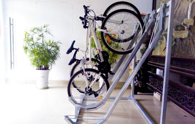 крепление для велосипеда на стену под наклоном