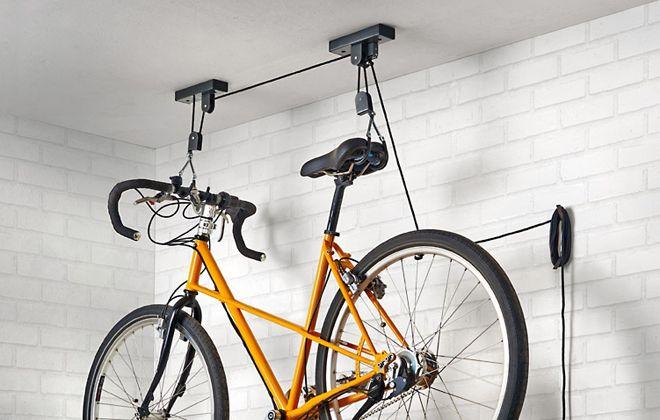 крепление для хранения велосипеда на стене