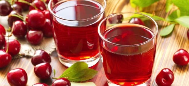 вишневая наливка из сока