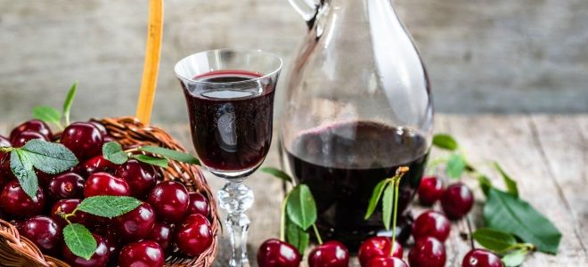 наливка из вишни и вина
