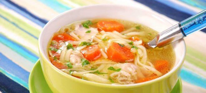 куриный суп с вермишелью и сельдереем