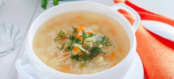 куриный суп с вермишелью и рисом