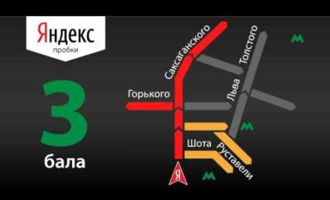 сервис Яндекс Пробки