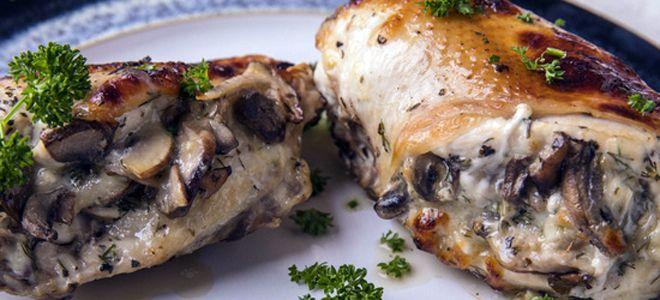 куриная грудка фаршированная грибами